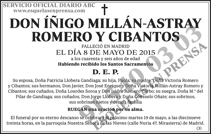 Íñigo Millán-Astray Romero y Cibantos